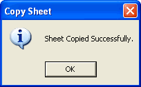 Copy Sheet window